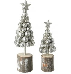 Bring a festive touch to your home with this beautiful set of assorted sized trees made up of jingling bells