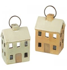 Perfect for adding a cosy feel to any home, an assortment of mini house shaped ceramic tlight holders