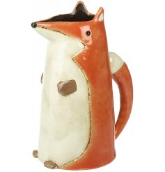 A gorgeous orange fox themed Ceramic Jug with an added bushy tail handle and smooth glaze finish