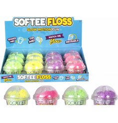 A sticky and fun lump of softee floss in an assortment of colours!