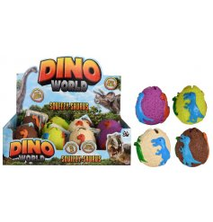 A fun assortment of squishy Dinosaur Egg themed balls