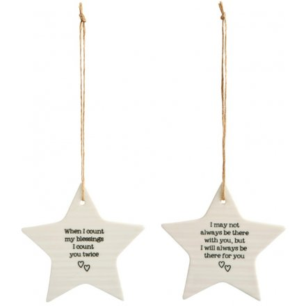 Evie Porcelain Star Decoration, 2a