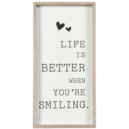 40cm Tall Framed Plaque - Life Is Better