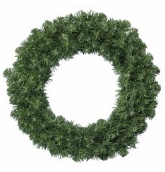 A large bushy round wreath, perfect for personalising yourself during the festive season