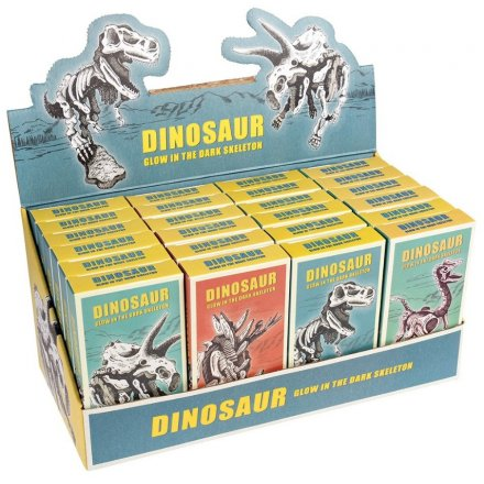 Keep kids entertained with their very own glow in the dark buildable dinosaur skeletons