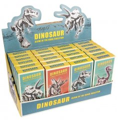 An assortment of different dinosaur species kits! These Dinosaur skeletons need to be built up, they also Glow!