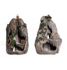 An assortment of Rocky Waterfall Mountain Incense Back Flow Burners