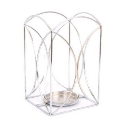 Metal Wire Candle Lantern, 23.5cm