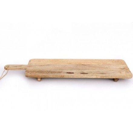 Natural Wooden Serving Board, 100cm