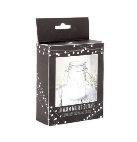 Up cycle mason jars, candle holders and more with this string of warm white LED lights.