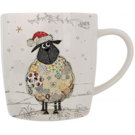 Bug Art Sheep Festive Mug