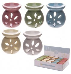 Perfect for placing in any home space a charming mix of coloured oil burners with added cut butterfly decals