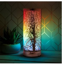 Adjust the brightness and watch the beautiful woodland tree shadows climb your walls and ceilings in a soft multi colou