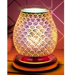 Illuminate your home with a gorgeous 3D Orb light effect from this LED Glass Lamp and Oil Burner