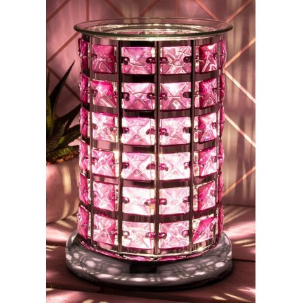 Desire Aroma Pink & Silver Touch Lamp