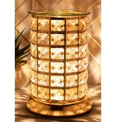 A stylishly chic Touch Lamp that has a 3 Level Brightness feature and added wax melt / oil burner dish