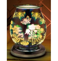 Illuminate your home with a gorgeous 3D sparkling light effect from this LED Glass Lamp and Oil Burner