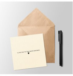 this plain greetings card will be perfect for any recipient on any occasion