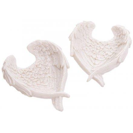 White Angel Wing Dish, 7.5cm