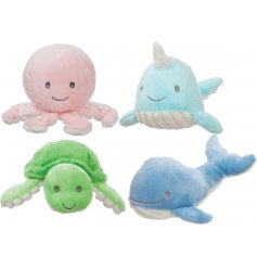 A cute and cuddly assortment of Under The Sea themed Baby Rattles