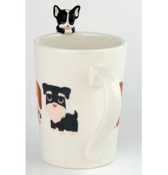 Decorated with a Dog Squad decal and added french bulldog top, this Ceramic Mug is perfect for gift giving!