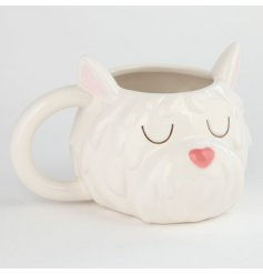 Decorated with a West High Head Form, this Ceramic Mug is perfect for gift giving to any westie lover!