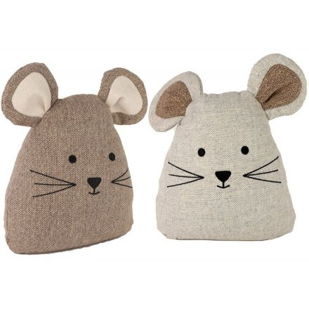 Assorted Brown & White Mouse Doorstops