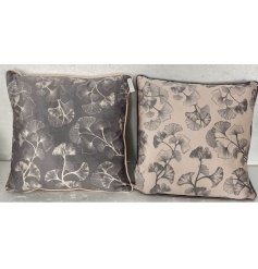 An assortment of 2 beautiful lotus print cushions in luxurious colours.