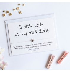 A little wish to say well done. A charming and unique sentiment gift item to congratulate that special person.