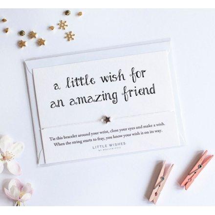 An Amazing Friend Wish Bracelet