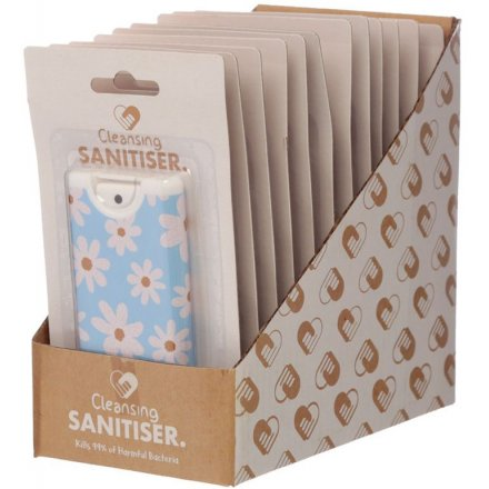 Protect yourself from bacteria with this cleansing, spray hand sanitiser in an attractive daisy design.