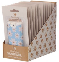 Keep clean, safe and sanitised with this cleansing hand sanitiser in an attractive daisy design.