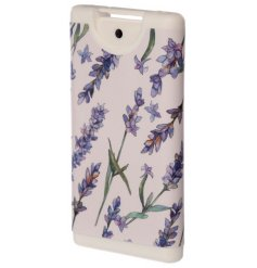 Keep clean, safe and sanitised with this cleansing hand sanitiser in an attractive lavender fields design.