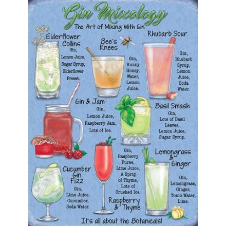 Metal Sign, The Art Of Gin