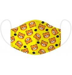 Protect yourself and others with this fun and colourful tiger design face mask for children.