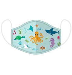 Sealife Design Kids Face Covering Washable