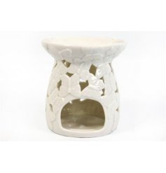 A pretty oil burner decorated with embossed butterflies. A pretty oil burner for your favourite wax melts and oils.