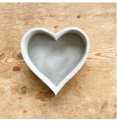 An on trend cement heart tray with plenty of raw character and charm.