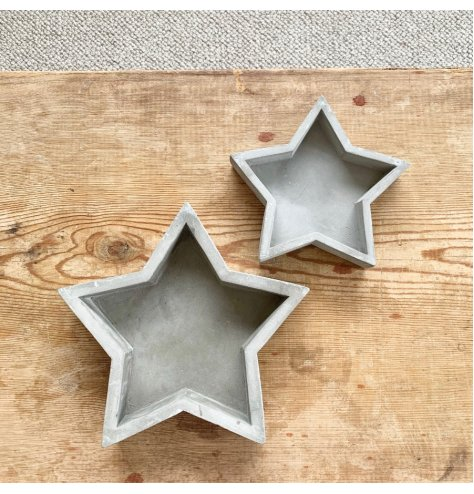 Laid back chic. This cement star is on trend and effortlessly cool with raw interior appeal.
