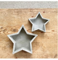An effortlessly chic cement tray. A rough luxe interior accessory which is right on trend.