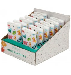 Keep clean, safe and sanitised with this cleansing hand sanitiser in a colourful butterfly design.