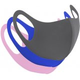 Keep yourself and others safe with this assortment of face coverings in grey, blue and pink colours.