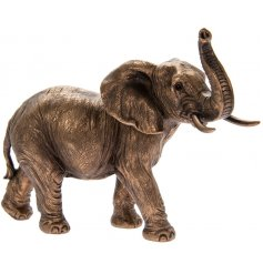 A fine quality bronze elephant ornament with fantastic detailing. Complete with gift box.