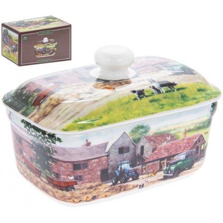 Macneil Farmyard China Butter Dish