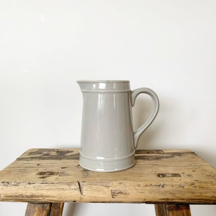 A beautifully simple and elegant ceramic jug with country character and charm.