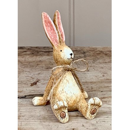 Laid Back Sitting Rabbit W/Bow