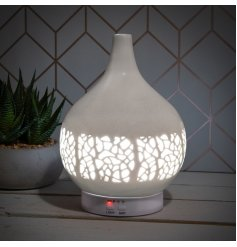 A super stylish aroma humidifier with an attractive mosaic design.