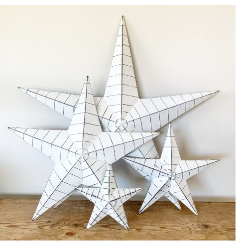 A vintage inspired barn star, said to bring luck to the home.