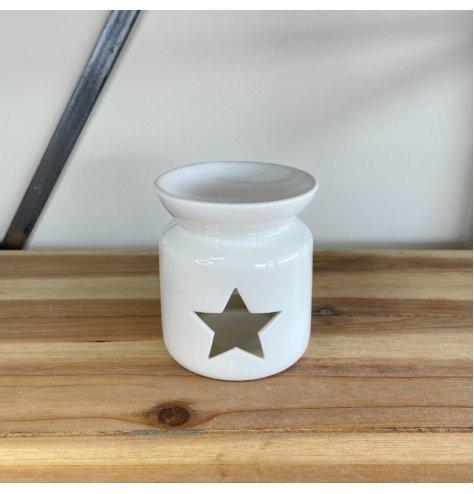 A Simplistic Cut Out Star Ceramic Oil Burner