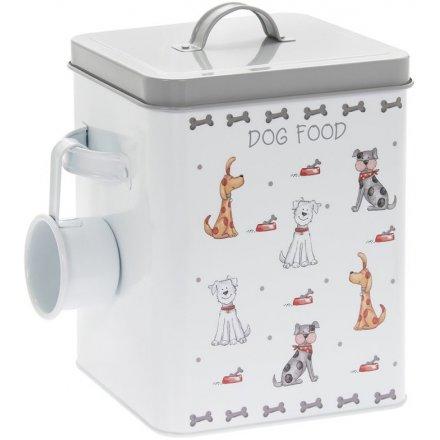 Dog Food Faithful Friends Storage Tin, 25cm